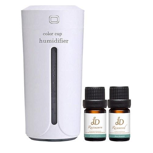 防禦修護組-JD羅文莎葉精油5ml+JD花梨木香氛油5ml+車用USB霧化機