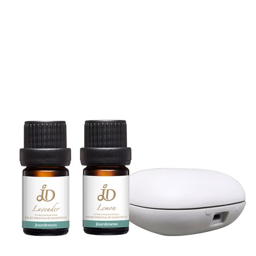 JD薰衣草精油5ml+JD檸檬精油5ml+北歐風行動香氛機