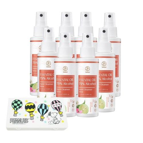 精油防禦75%酒精乾洗手噴霧100ml_8瓶組現貨-贈口罩收納盒