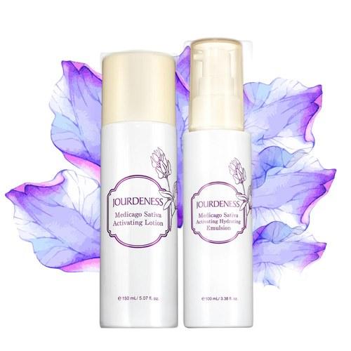 紫花苜蓿活妍保濕乳100ml+化妝水150ml贈緊緻乳3mlx2