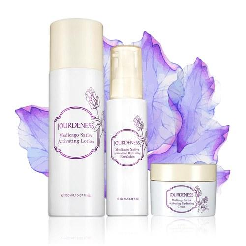 紫花苜蓿活妍化妝水150ml+保濕乳100ml+保濕霜50ml贈品牌帆布袋
