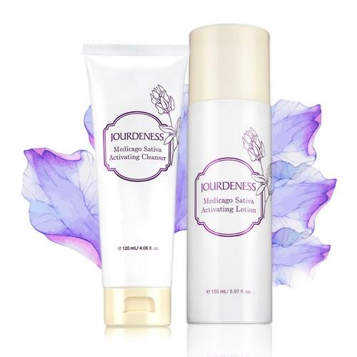 紫花苜蓿活妍潔膚乳120ml+化妝水150ml