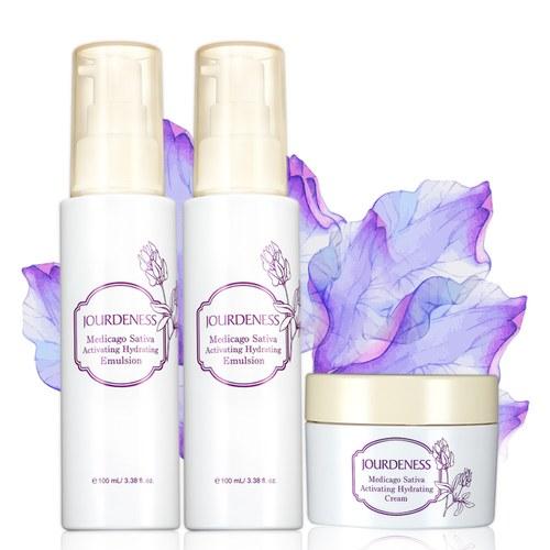 紫花苜蓿活妍保濕乳100mlx2+保濕霜50ml