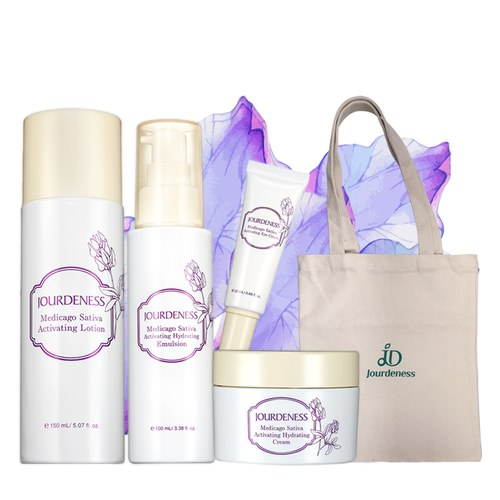 紫花苜蓿活妍化妝水150ml+保濕乳100ml+保濕霜50ml+眼霜20ml