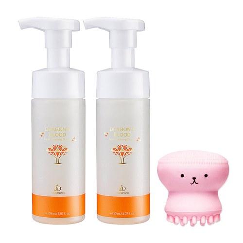 龍血求麗潔顏慕絲150mlx2 送小章魚洗臉刷(不挑色)