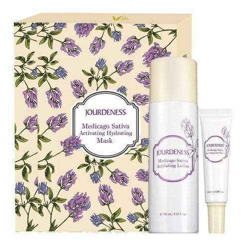 紫花苜蓿活妍化妝水150ml+眼霜20ml+面膜5片/盒x2贈品牌帆布袋