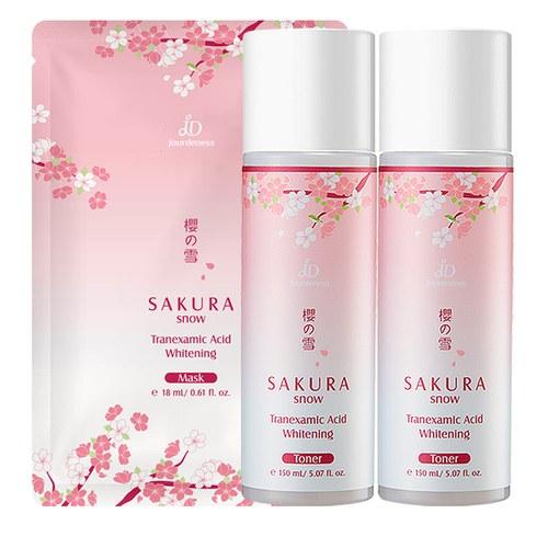 櫻の雪傳明酸美白化妝水150mlx2贈櫻の雪傳明酸美白面膜x1