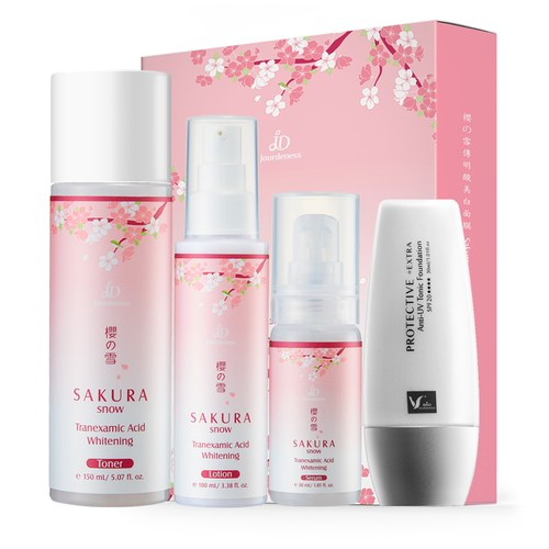 櫻の雪美白全套組+超防禦UV 潤色妝前乳 SPF20 30ml