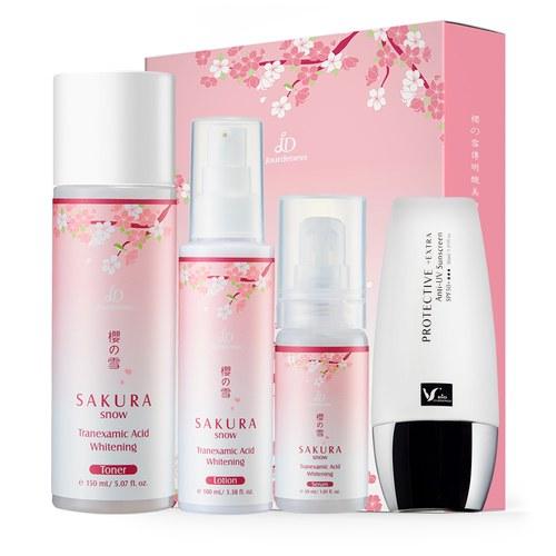 櫻の雪美白全套組+超防禦輕透隔離乳SPF50+ 30ml