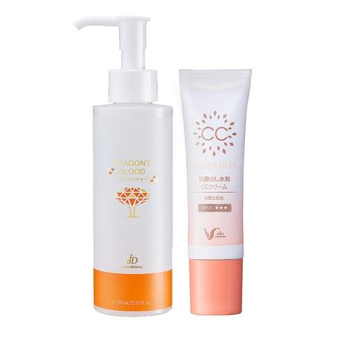 光感保濕CC霜30g(自然色)+龍血求麗卸妝油150ml