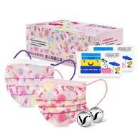 輕鬆童趣口罩組_Hello Kitty成人防護口罩x2+香氛精油釦x2+史努比口罩收納盒x2