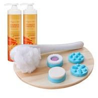 龍血求麗潤澤修護沐浴乳500mlx2+【Nareca】二合一Spa潔膚按摩儀
